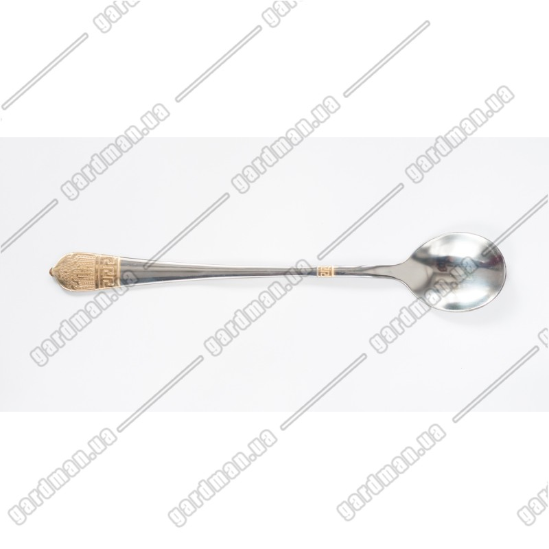 Ложка кофейная с длинной ручкой из нержавейки Египет 19,3 см.: фото - Gardman™